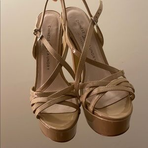 Chinese Laundry Shoes - Chinese Laundry nude pageant heels